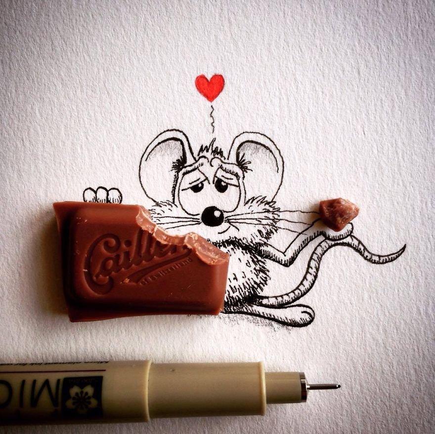 Desenhos criativos de um personagem engraçadinho (9)
