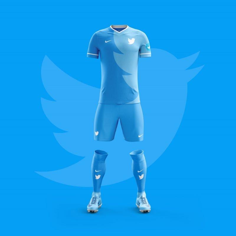716123f9b0ec7 Designer cria uniformes de futebol para aplicativos famosos - Bons ...