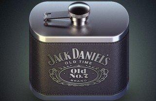 Ícone de garrafa de whiski