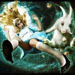 Publicidades e ilustrações de Alice no país das maravilhas