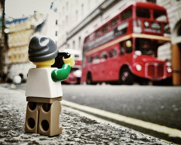 tirar fotos criativas com lego