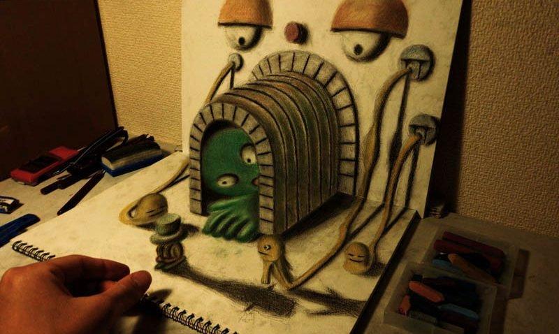 Fantasticos Desenhos 3d Com Lapis Bons Tutoriais