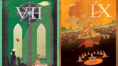 Posteres minimalistas feitos inspirados no game Final Fantasy (1)