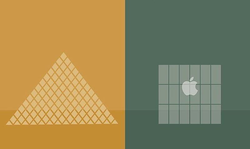 Pôsteres minimalistas onde retratam as diferenças e contradições de paris e nova iorque por Vahram Muratyan (12)