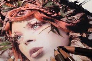 Desenhos feitos com lápis de cor, maravilhosos e fantásticos de Karla Mialynne (6)