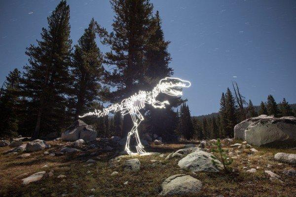 lighting painting criativos de dinossauro (3)