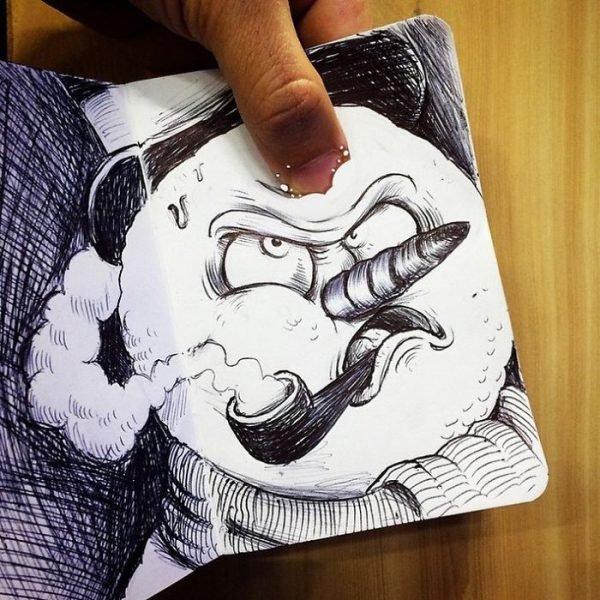 Desenhos criativos em 3d (10)