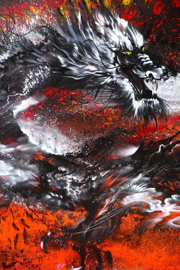 Arte urbana de um grande dragão chinês (13)