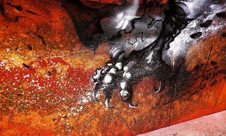 Arte urbana de um grande dragão chinês (12)