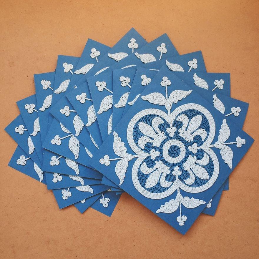 Quadros feitos com papel (6)