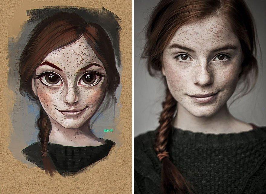 Ilustrações criativas inspirada em pessoas aleatórias (8)