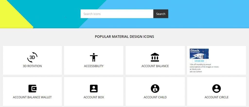 icones material design